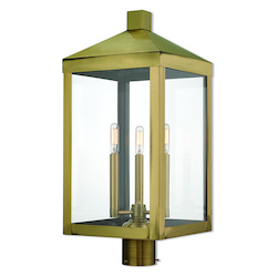 Livex Lighting 3 Lt Ab Outdoor Post Top Lantern