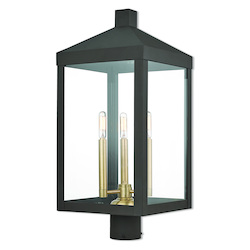 Livex Lighting 3 Lt Bz Outdoor Post Top Lantern