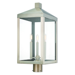 Livex Lighting 3 Lt Bn Outdoor Post Top Lantern