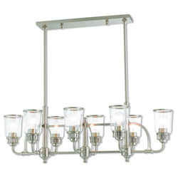 Livex Lighting 8 Lt Bn Linear Chandelier