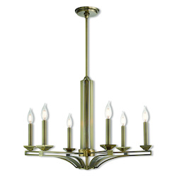 Livex Lighting 6 Lt Ab Chandelier