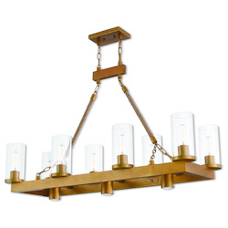 Livex Lighting 11 Lt Agd Linear Chandelier