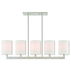 Livex Lighting 5 Lt Bn Linear Chandelier