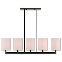 Livex Lighting 5 Lt Bz Linear Chandelier