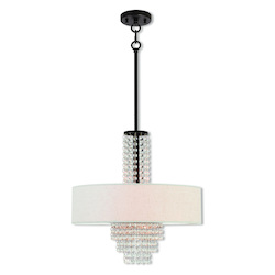 Livex Lighting 4 Lt Ebz Pendant Chandelier