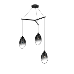 Sonneman 3-Light Tri-Spreader Led Pendant