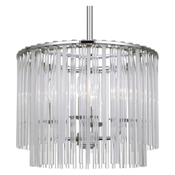 Crystorama Bleecker 4 Light Polished Chrome Chandelier