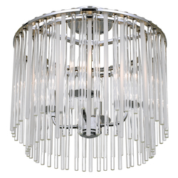 Crystorama Bleecker 4 Light Polished Chrome Ceiling Mount