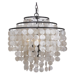 Crystorama 3 Light Dark Bronze Chandelier