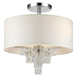 Crystorama Addison 3 Light Polished Chrome Ceiling Mount
