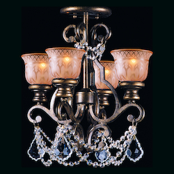 Crystorama Norwalk 4 Light Swarovski Strass Crystal Bronze Ceiling Mount