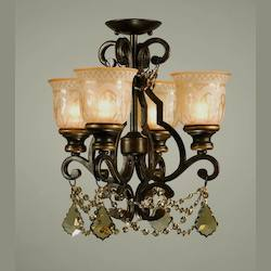 Crystorama Norwalk 4 Light Golden Teak Swarovski Strass Crystal Bronze Ceiling M