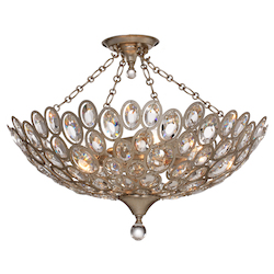 Crystorama Sterling 5 Light Distressed Twilight Ceiling Mount