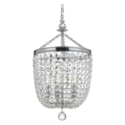 Crystorama Archer 5 Light Spectra Polished Chrome Chandelier