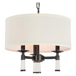 Crystorama Baxter 3 Light Oil Rubbed Bronze Chandelier