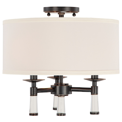 Crystorama Baxter 3 Light Oil Rubbed Bronze Ceiling Mount
