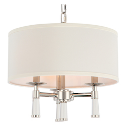 Crystorama Baxter 3 Light Polished Nickel Chandelier