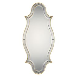 Uttermost Donatella Curved Sided Gold Mirror