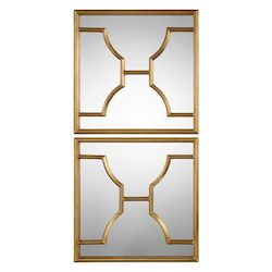 Uttermost Misa Gold Square Mirrors S/2
