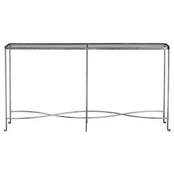 Uttermost Aubrey Silver Console Table