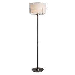Uttermost Velence Brushed Nickel Floor Lamp