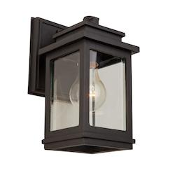 Artcraft One Light Oiled Bronze Wall Lantern