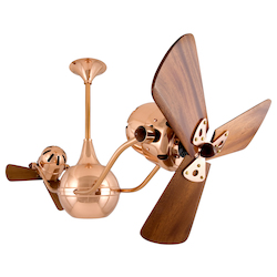 Vent  Bettina-Polished Copper-Wood