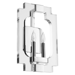 Quorum Broadway 2Lt Sconce Nickel