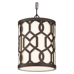 Crystorama JEN-2205-DB Libby Langdon For Crystorama Jennings Outdoor 1 Light Chandelier