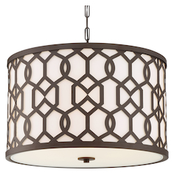 Crystorama JEN-2206-DB Libby Langdon For Crystorama Sylvan Outdoor 5 Light Chandelier