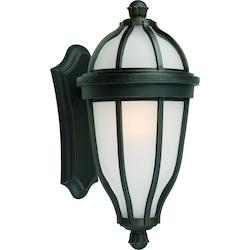 Artcraft One Light Oil Rubbed Bronze Satin Acid Etched Glass Wall Lantern