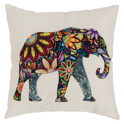 Varaluz Elephant Square Throw Pillow