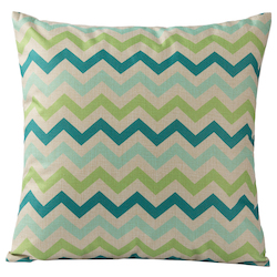 Varaluz Colorful Triangles Square Throw Pillow