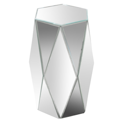 Varaluz Hexagonal Mirror Accent Table
