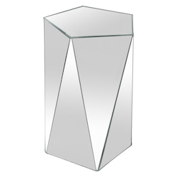 Varaluz Pentagonal Mirror Accent Table