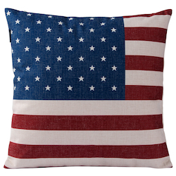 Varaluz American Flag Square Throw Pillow