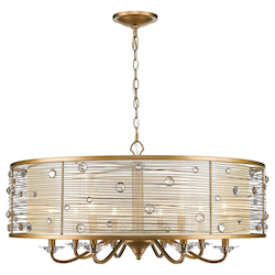 Golden 8 Light Chandelier