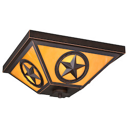 Vaxcel International Ranger 3L Outdoor Flush Mount