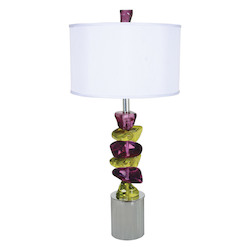 "Van Teal Rock Of Ages Table Lamp 33"" H."