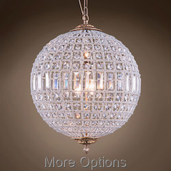 19th c. Crystal Sphere 3 Light 18