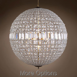19th c. Crystal Sphere 8 Light 36