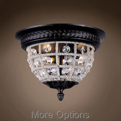 19th c. Crystal Sphere 2 Light 12