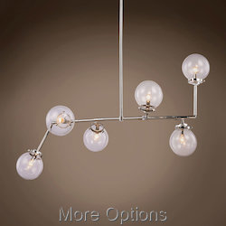 Globe Clear Glass 6 Light 21