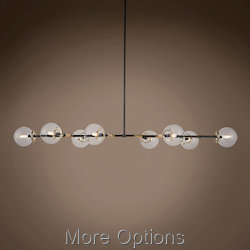 Bistro Globe Clear Glass 8 Light 66