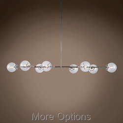 Globe Clear Glass 8 Light 66