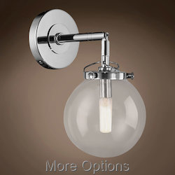 Globe Clear Glass 1 Light 6