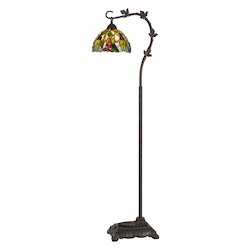 CAL Lighting 60W Cotulla Down Bridge Tiffany Metal Floor Lamp