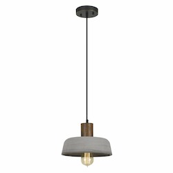 CAL Lighting 60W Thomson Cement Mini Pendant Fixture