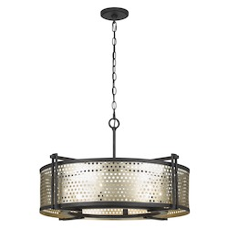 CAL Lighting 60W X 6 Howell 6 Light Metal Pendant Fixture