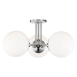 Hudson Valley 3 Light Semi Flush